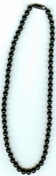 Length:16 inches, black coral necklace with black coral screw clasp, size:7mm