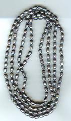 black color fresh water pearl necklace (Length:64