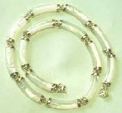 14K yellow gold mother of pearl necklace